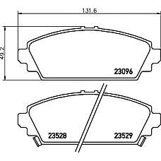 TEXTAR 2309601 (45022S1AE63 / 45022S6FE50 / 45022S1AE62) колодки торм. Honda (Хонда) Accord (Аккорд) 98> перед. к-т