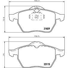 TEXTAR 2311502 (90512037 / 1605912 / 1605036) колодки дисковые передние\Opel (Опель) calibra / vectra, Saab (Сааб) 900 2.0-2.5 / 2.0 / 2.2dti 95>