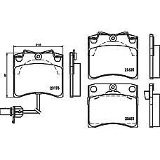 TEXTAR 2317602 (7D0698151C / 7D0698151H) колодки торм. VW Transporter (Транспортер) IV перед.+датчик