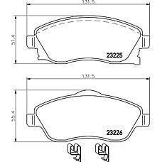 TEXTAR 2322501 (1605964 / 1605974 / 1605081) колодки дисковые передние\ Opel (Опель) Corsa (Корса) c 1.0-1.7dti 00>