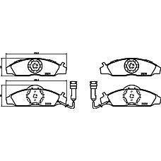 TEXTAR 2323001 (4813005100 / 9949533 / 9949509) колодки торм. ssang / Daewoo (Дэу) Musso (Муссо) / Korando (Корандо) перед.к-т