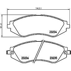 TEXTAR 2323401 (96245178 / 96495227 / 96405129) колодки торм.пер.Chevrolet (Шевроле) lacceti 1.4-2.0 16v 05- / nubira,седан,универ