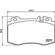 TEXTAR 2327102 (1634200620 / 0034204220 / 0034205820) колодки дисковые передние\ mb w163 3.5-5.0 / 4.0cdi / w220 2.8-6.0 / 3.2cdi 98>