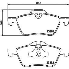 TEXTAR 2328101 (34111503076 / 34116761287 / 34116765446) колодки дисковые передние\ Mini (Мини) Mini (Мини) cooper / one 1.4i / 1.6i / 1.4d 01>