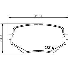 TEXTAR 2331401 (5520065D10 / 5520065D00 / 5520065D11) колодки дисковые передние\ Suzuki (Сузуки) Vitara (Витара) 90-98 / grand Vitara (Витара) 2.0-2.5 / 2.0td 98>