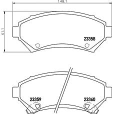 TEXTAR 2335801 (1605947 / 1605067 / 18024962) колодки тормозные дисковые