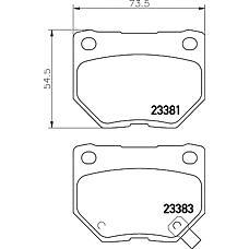 TEXTAR 2338102 (26696FA000 / 26696FE070 / 26696FA020) колодки дисковые задние\ Subaru (Субару) Impreza (Импреза) 2.0twrx 00-01