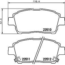 TEXTAR 2351002 (0446513020 / 0446552010 / 0446517101) колодки дисковые передние\ Toyota (Тойота) Corolla (Корола) 1.4 / 1.6wt-i 01-02