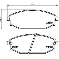 TEXTAR 2351801 (58101M1A00 / S2000100 / SB000100) колодки торм. Hyundai (Хендай) galloper2 передн. к-т