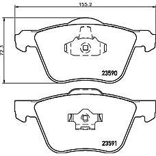 TEXTAR 2359001 (274285 / 30793265 / 30793231) колодки дисковые передние\Volvo (Вольво) s80 98> / v70 / s60 00> / xc70 2.5d5 02>