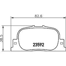 TEXTAR 2359201 (0446632030 / 0446632040 / 0446647010) колодки тормозные дисковые