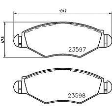 TEXTAR 2359703 (425212 / 425228 / 425320) колодки тормозные дисковые Audi (Ауди) a8, VW phaeton (10.02-)