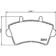 TEXTAR 2361301 (7701207339 / 7701206727 / 4106000QAD) колодки дисковые передние\ Renault (Рено) master 00>, Opel (Опель) movano 1.9tdi-2.8tdi 01>