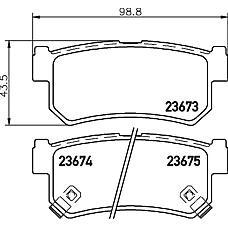 TEXTAR 2367301 (48413090A1 / 4841308050 / 4841308051) колодки дисковые задние\ ssangyong rexton 2.7xdi / 2.9d / 3.2i v6 02>