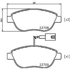 TEXTAR 2370802 (9949276 / 77362195 / 77362092) колодки дисковые передние\ Fiat (Фиат) bravo / grande Punto (Пунто) / doblo 1.4 / 1.3d / 1.9d / jtd 03>