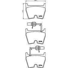 TEXTAR 2375101 (3D0698151A / 4B3698151A / 8E0698151H) колодки тормозные дисковые