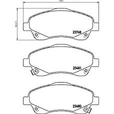 TEXTAR 2376802 (0446505130 / 0446505170 / 0446505131) колодки дисковые передние\ Toyota (Тойота) Avensis (Авенсис) 1.6i-2.4d4-d 03>
