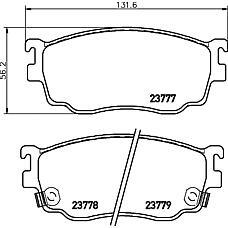 TEXTAR 2377701 (GJYC3328Z / CBY43323Z / G1YN3323Z) колодки дисковые передние\ Mazda (Мазда) 626 gw 1.8i / 2.0i / tdi 98>