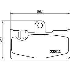 TEXTAR 2380401 (0446650090 / 0446650100 / 446650100) колодки дисковые задние\ Lexus (Лексус) ls 430 00>