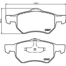 TEXTAR 2380701 (05072216AA / 05072215AA / 05015365AA) колодки дисковые передние\ Chrysler (Крайслер) Voyager (Вояджер) / grand Voyager (Вояджер) all 01>