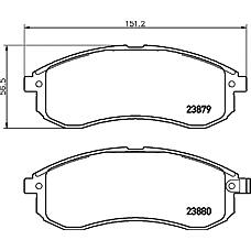 TEXTAR 2387902 (MR977365 / MN102622 / DBP511126) колодки дисковые передние\ Mitsubishi (Мицубиси) l200 2.5td 4wd 03>
