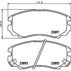 TEXTAR 2389101 (581012CA20 / 5810138A81 / 581012EA11) колодки дисковые передние\ Hyundai (Хендай) tucson / coupe, Kia (Киа) Sportage (Спортедж) 1.6-2.7 02>