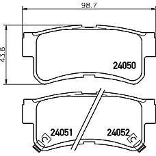 TEXTAR 2405001 (4841305100) колодки торм. ssang Musso (Муссо) / Korando (Корандо) 95- задн.к-т