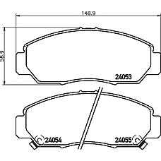 TEXTAR 2405301 (45022SJFE00 / 45022SDBA00 / 45022SDBA10) колодки торм. Honda (Хонда) fr-v 05> перед. к-т