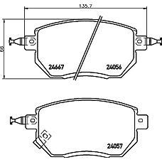 TEXTAR 2405601 (41060CA090 / 41060CA092 / 41060CG091) колодки дисковые передние\ Nissan (Ниссан) murano 3.5 4wd 05>, Subaru (Субару) Forester (Форестер) sg 2.0 02>
