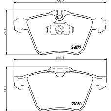 TEXTAR 2407903 (02C2Z14096 / 2C2Z14096) Тормозные колодки передние JAGUAR XF 08->