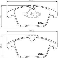 TEXTAR 2408401 (C2C27290 / C2C39929 / C2C35612) колодки дисковые передние\ Ford (Форд) Galaxy (Галакси) / s-max 2.0 / 1.8tdci / 2.0tdci 06>