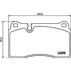 TEXTAR 2409801 (7L6698151E / 7L6698151G / 224788) колодки дисковые передние с антискрип. пл. \VW touareg, range rover 3.2-4.2i / 3.0tdi 05>