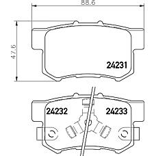 TEXTAR 2423101 (43022S9A010 / 43022S9AE00 / 43022TL0G51) колодки тормозные дисковые HONDA/HONDA (DONGFENG)ACCORD EURO VII (CL),ACCORD VII (CL),ACCORD VII Tourer (CM),CROSSTOUR,CR-V II (RD_),CR-V Mk II (RD_)/CR-V