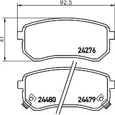 TEXTAR 2427601 (5830207A00 / 5830207A10 / 583020XA00) колодки дисковые задние\ Kia (Киа) Picanto (Пиканто) 1.1i 04>