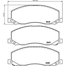 TEXTAR 2441801 (13237752 / 1605202) колодки тормозные дисковые