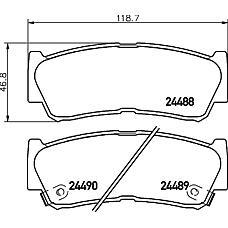 TEXTAR 2448801 (583022BA20 / 583022BA00 / 583022BA40) колодки дисковые задние с антискрип. пластинами\ Hyundai (Хендай) Santa fe (Санта фе) 2.7 / 2.2crdi 06>