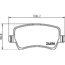 TEXTAR 2449602 (1459450 / 1439866 / 30794555) колодки дисковые задние\ Ford (Форд) Galaxy (Галакси) / s-max 2.0 / 2.3 / 2.5 / 1.8tdci / 2.0tdci / 2.2tdci 06>