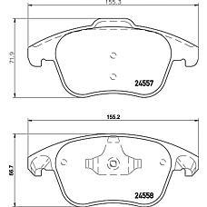 TEXTAR 2455701 (425362 / 425397) колодки дисковые передние с антискрипередние пластинами\ Citroen (Ситроен) c4 Picasso (Пикасо) 2.0i / 2.0hdi 06>