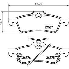 TEXTAR 2457401 (044660D010 / 37579 / AKD1840) колодки дисковые задние\ Toyota (Тойота) Yaris (Ярис) 1.0vvt-i / 1.3vvt-i / d-4d 06>