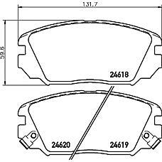 TEXTAR 2461801 (581013LA20) колодки тормозные дисковые