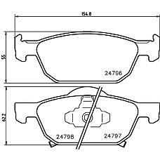 TEXTAR 2479601 (45022TL1G01 / 45022TL1G00 / BD3423) колодки дисковые передние с антискрип. пластинами\ Honda (Хонда) Accord (Аккорд) 08>
