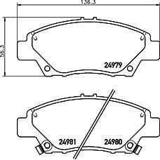 TEXTAR 2497901 (45022TM8G00 / 45022TF0G02 / 45022SNCE00) колодки дисковые перед.с антискрипередн. пл.\Honda (Хонда) Civic (Цивик) vII / insight 1.3 / Jazz (Джаз) 1.2 / 1.4 08-13