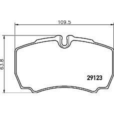 TEXTAR 2912307 (1501265 / 1718023 / 8C1V2M008AB) Колодки тормозные задние дисковые