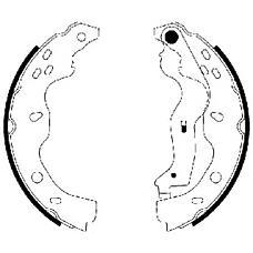 TEXTAR 91067500 (5320079J00 / 71742832 / 71747587) колодки барабанные\ Fiat (Фиат) sedici 1.6 / 1.9d, Suzuki (Сузуки) sx4 1.6 / 1.9ddis 06>