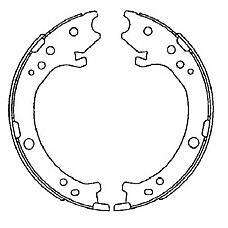 TEXTAR 91072200 (43053SWW000 / 43154STKA01 / 43053SWW010) колодки тормозные барабанные