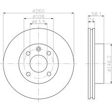 TEXTAR 92027300 (6169974 / 5022663 / 6169975) диск торм. Ford (Форд) Sierra (Сиера) перед. вент. 1 шт (min 2 шт)