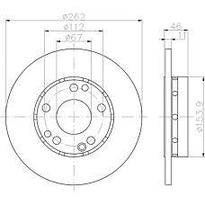 TEXTAR 92027400 (2014211212 / 2014210812 / A2014211212) диск торм. mb 201 перед.не вент. . 1 шт (min 2 шт) (замена на 92027403)