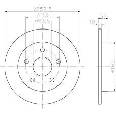 TEXTAR 92032400 (5022949 / 6158215 / 1630012) диск тормозной