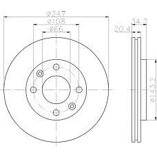 TEXTAR 92043103 (424694 / 95661747 / 4246A7) диск тормозной передний\ Peugeot (Пежо) 306, Citroen (Ситроен) ax / Xsara (Ксара) 1.3-11.9td 91>