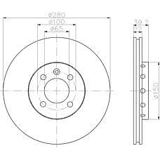 TEXTAR 92043500 (535615301) диск торм.